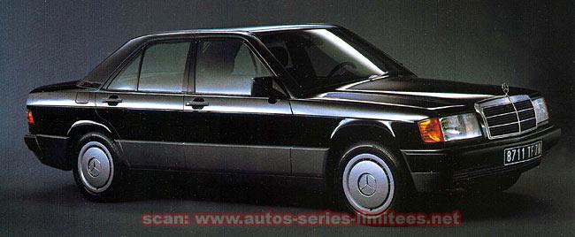 """(W201): Modelo especial 190 """"Contact"""" 1990  Mercedes_190_Contact"""